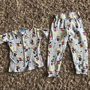 Disney Mickey Pjs Size 4t
